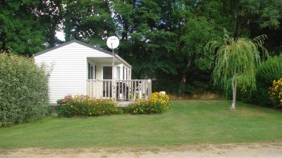 Location du mobil-home chalet terrasse